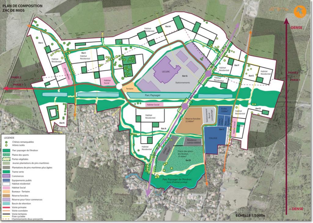 Plan de composition de l'éco-domaine Terres Vives