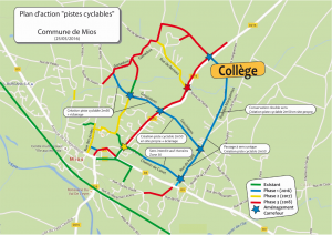 Planification des piste cyclable à Mios 2106-2018