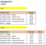 Transport Scolaire Collège de Mios Lacanau Ligne11