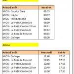 Transport Scolaire Collège de Mios Caudos Ligne12