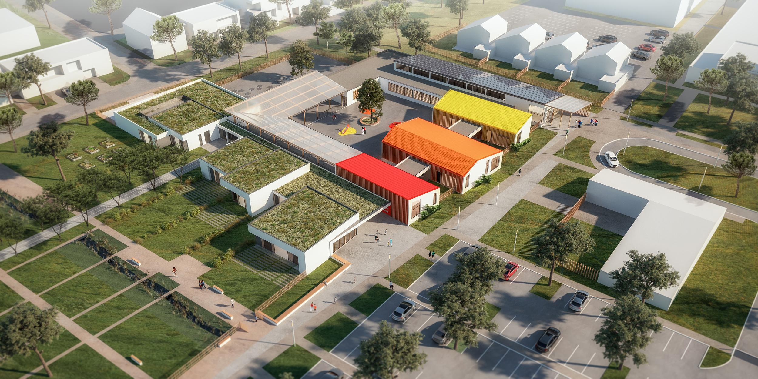 Plan future école éco-domaine de Terres vives