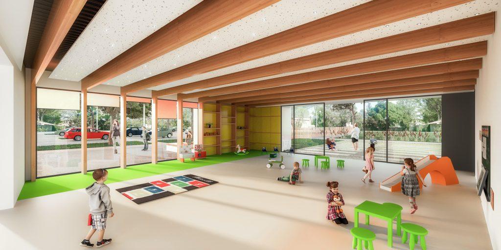 Plan école Terres Vives vue salle de jeux