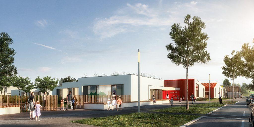 Plan école Terres Vives vue parking