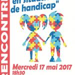 Affiche sur la rencontre autour du thème L'enfant et le handicap